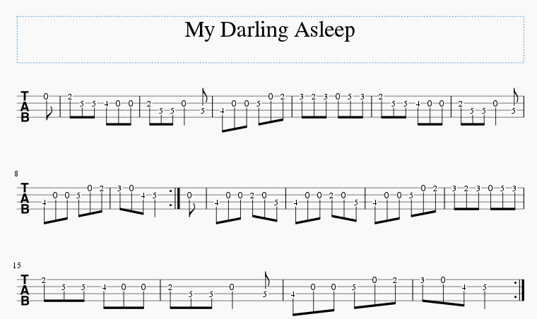 My Darling Asleep tab