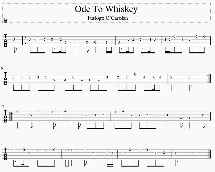 Ode to whiskey mando tab