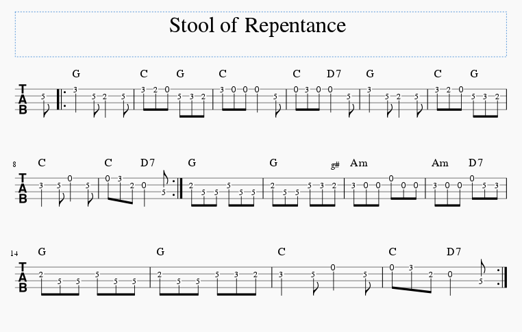 stool of repentance tab