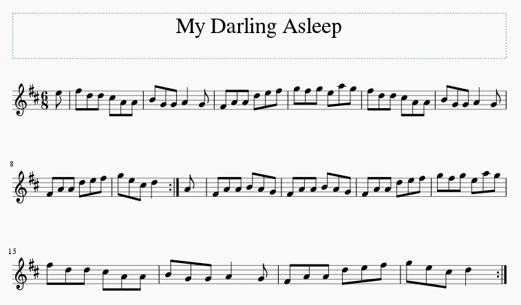 My Darling Asleep sheet