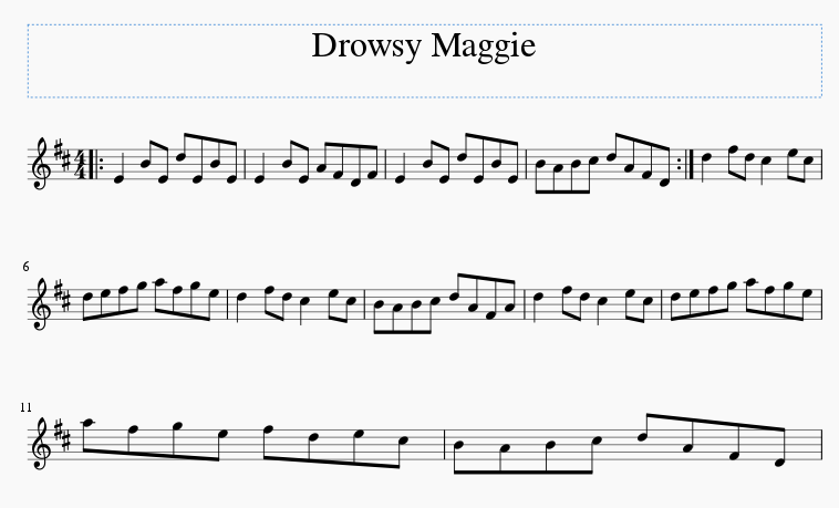 drowsy maggie sheet